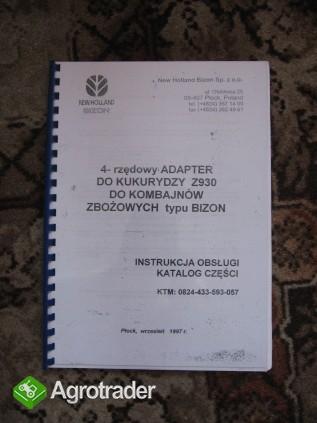 Katalog części przystawka do kukurydzy Bizon Z930, Z929/4, Oros 4023