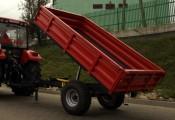 Przyczepa rolnicza T736A, nowa, METAL-FACH, 1,5t, jednoosiowa