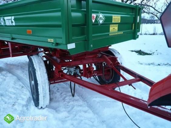 Przyczepa rolnicza ciężarowa 5 ton HL 6011 jak nowa OKAZJA wywrotka  - zdjęcie 3