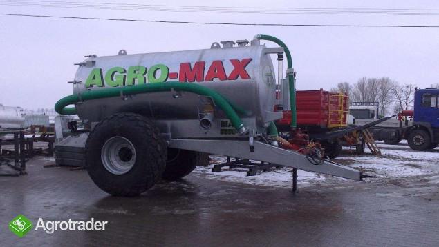 Beczkowóz wóz asenizacyjny jednoosiowy agro-max  - zdjęcie 3