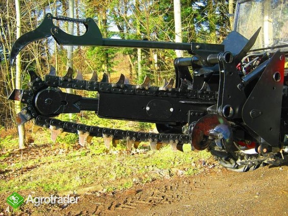 Koparka łańcuchowa napędzane z ciągnika rolniczego 220 cm - zdjęcie 5