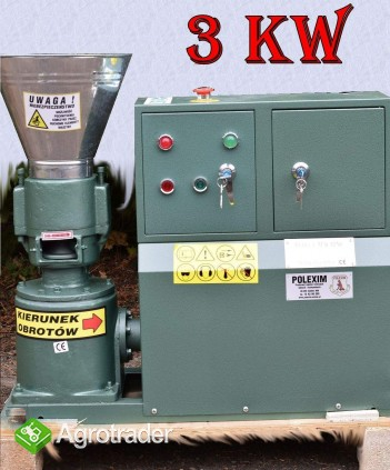 PELLECIARKA: wydajność 75-100-kg/h, silnik 3 kW, matryca 6 mm lub 8mm.