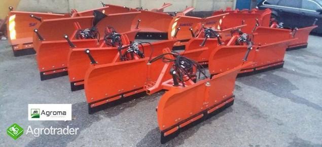 Pług składany do odśnieżania odśnieżarka nowy 2m do śniegu do traktora - zdjęcie 1