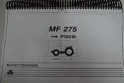 Katalog części zamiennych ciągnika Massey Ferguson 275