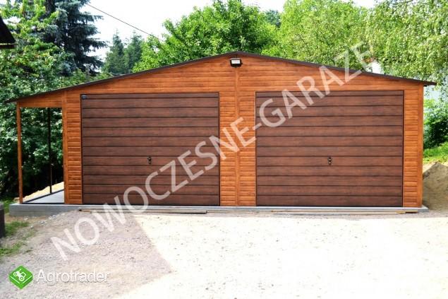 Garaż drewnopodobny przetłoczenia w poziomie CAŁA POLSKA! - zdjęcie 1