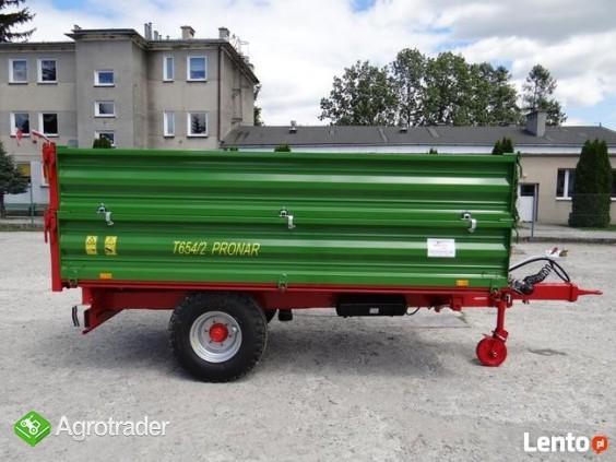Przyczepa rolnicza 5 t jednoosiowa PRONAR T654/2 - zdjęcie 4