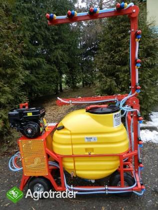 Opryskiwacz spalinowy wózkowy. Zbiornik 200l , silnik 6,5 kM - zdjęcie 2