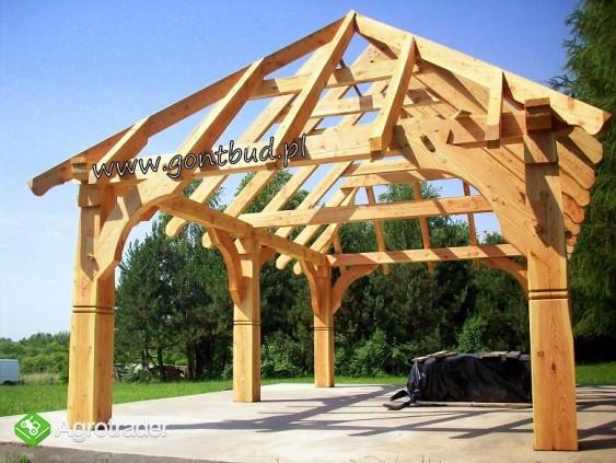 altanka+ściany+gonty ( wiaty drewniane garaż altana ) gontbud.pl - zdjęcie 6
