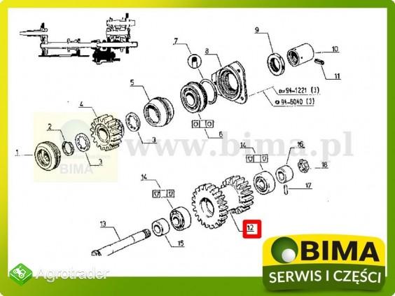Używane koło zębate wom z16/21 Renault CLAAS Temis 630 - zdjęcie 3