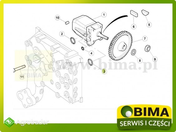 Oring pompy hydraulicznej Renault CLAAS Ares 547,550 - zdjęcie 1