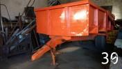 Przyczepa ciągnikowa 1-oś bardzo szerokie koła, 7-10 ton udźwigu