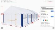 Namiot hala weselna imprezowa bankietowa 3x28x2 mtbtent.pl