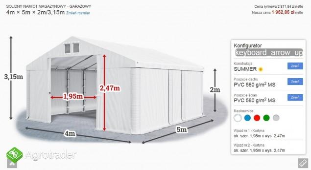Namiot hala  4x5x2m magzynowa handlowa wiata garaż MTB - zdjęcie 4