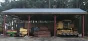 Wiązary kratowe drewniane, Hale magazynowe, Wiaty